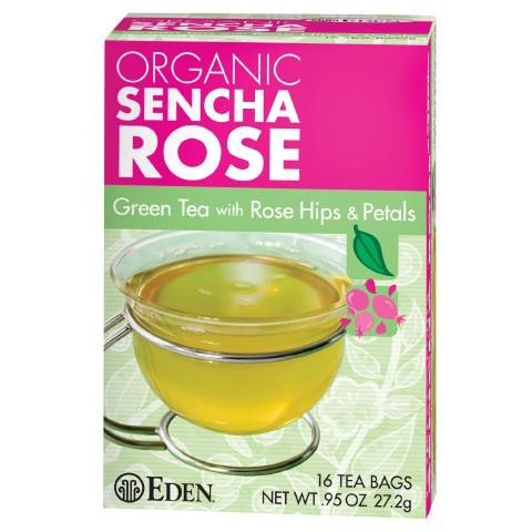 Sencha Rose Green Tea, Organic