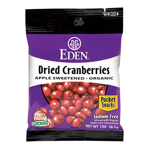 Dried Cranberries, Organic Pocket Snacks