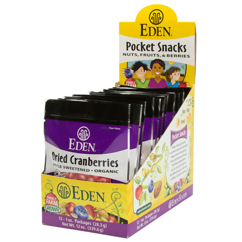 Dried Cranberries Pocket Snacks, Organic