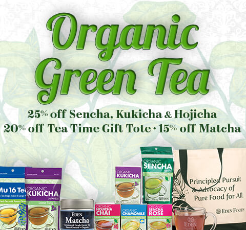 EDEN Organic Green Tea Sale