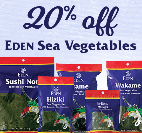 20% off EDEN Sea Vegetables