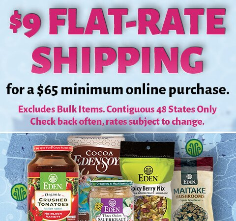 EDEN Flat Shipping Promo Graphic